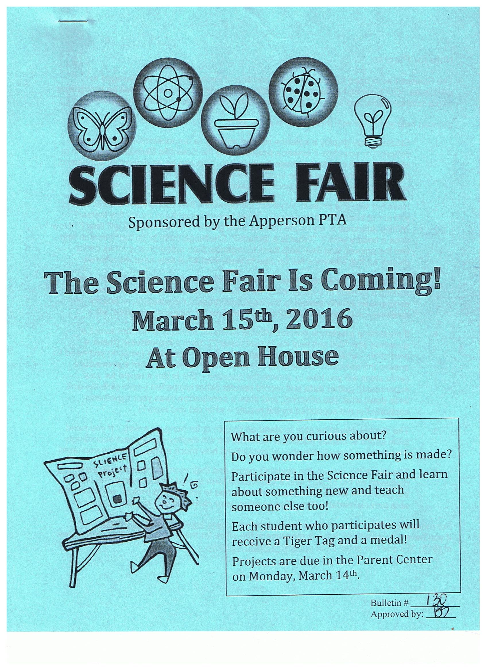 science fair 2016 cover