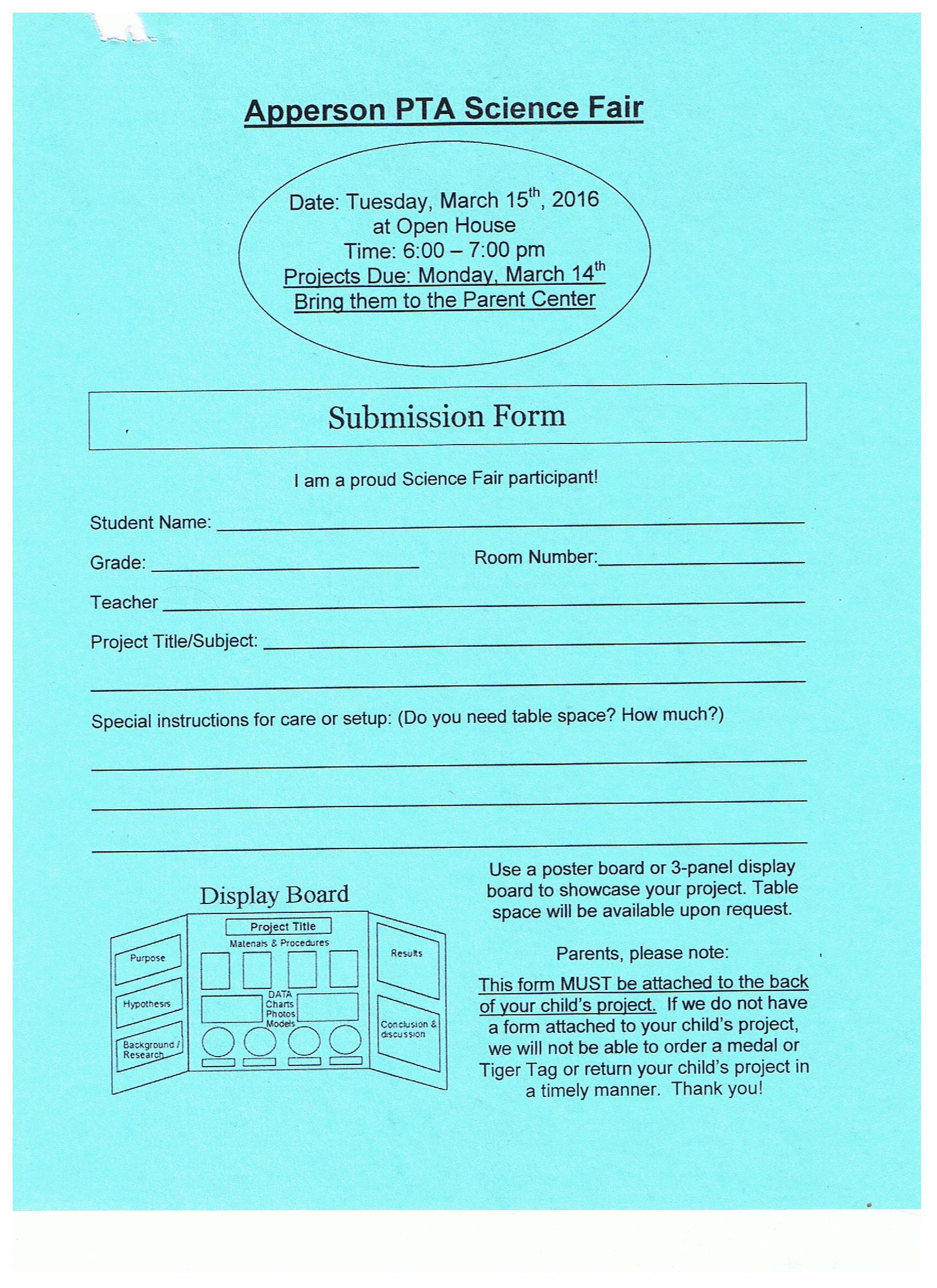 apperson pta page 6 science fair 2016 submission form