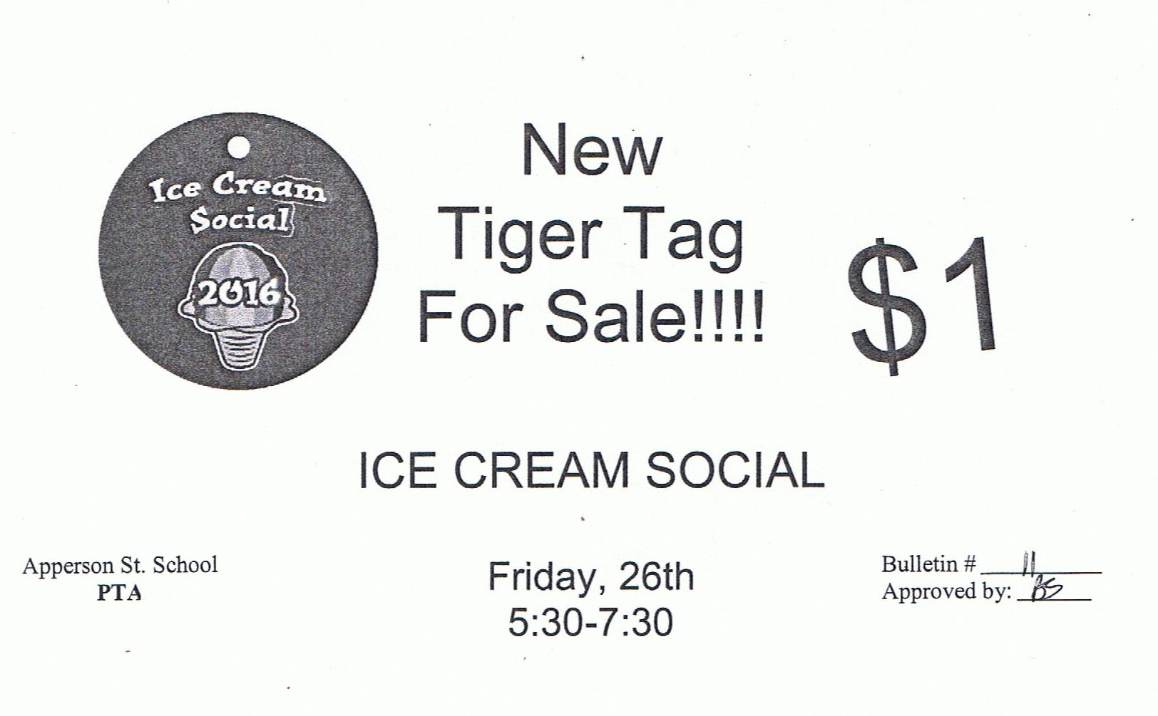 ice cream social tiger tag